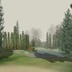 Wizualizacja wykonana w programie do projektowania i wizualizacji ogrodów