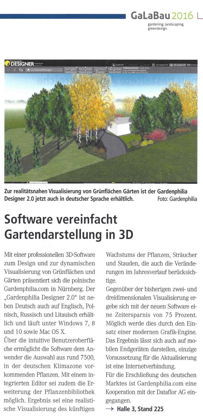 Gardenphilia DESIGNER Software für den Garten- und Landschaftsbau